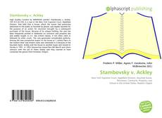 Bookcover of Stambovsky v. Ackley