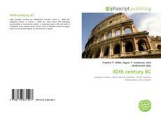 Buchcover von 40th century BC