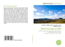 Rock Carvings at Alta kitap kapağı