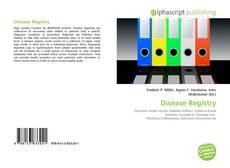 Disease Registry kitap kapağı