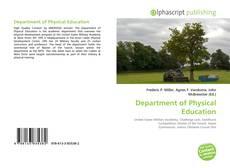 Portada del libro de Department of Physical Education
