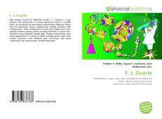 Bookcover of F. J. Duarte