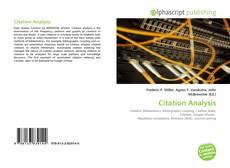 Citation Analysis的封面