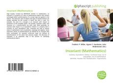 Bookcover of Invariant (Mathematics)