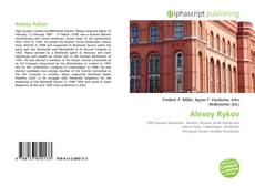 Bookcover of Alexey Rykov