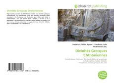 Couverture de Divinités Grecques Chthoniennes