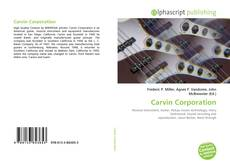 Обложка Carvin Corporation