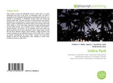 Bookcover of Indira Park