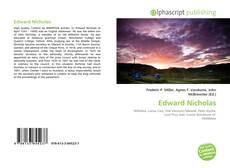 Bookcover of Edward Nicholas