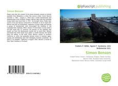 Bookcover of Simon Benson