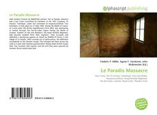 Bookcover of Le Paradis Massacre