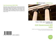 Buchcover von Irish Government Bill 1893