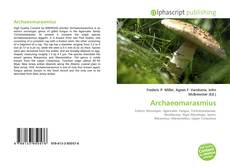 Bookcover of Archaeomarasmius