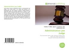 Bookcover of Administrative Law Judge