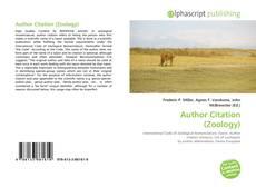 Borítókép a  Author Citation (Zoology) - hoz