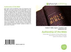 Capa do livro de Authorship of the Bible
