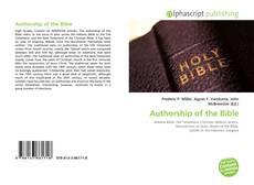 Обложка Authorship of the Bible