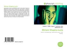 Обложка Miriam Shapira-Luria