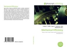 Bookcover of Mechanical Efficiency