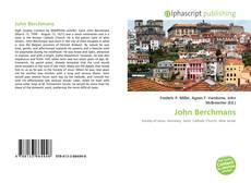 Обложка John Berchmans