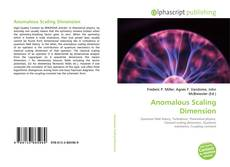 Bookcover of Anomalous Scaling Dimension