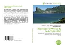Capa do livro de République d'Afrique du Sud (1961-1994)