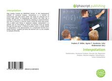 Couverture de Interpolation
