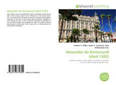 Bookcover of Alexander de Kininmund (died 1380)