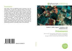 Bookcover of Provenance