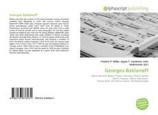 Buchcover von Georges Baklanoff