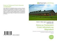 Buchcover von Peine ou Traitement Cruel, Inhumain ou Dégradant