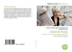 Bookcover of Article de Presse
