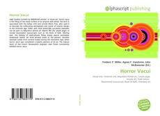 Bookcover of Horror Vacui