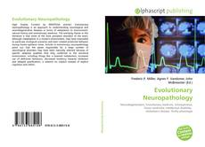Couverture de Evolutionary Neuropathology