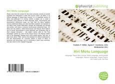 Buchcover von Hiri Motu Language