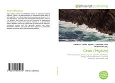 Bookcover of Geon (Physics)