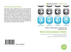 Couverture de Droit International Public