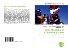 Bookcover of 2010 BCS National Championship Game