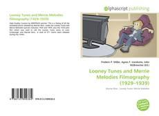 Looney Tunes and Merrie Melodies Filmography (1929–1939) kitap kapağı