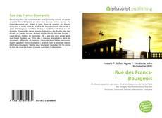 Rue des Francs-Bourgeois的封面
