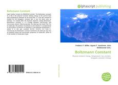 Bookcover of Boltzmann Constant