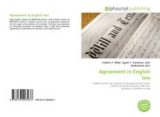 Bookcover of Agreement in English law