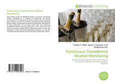 Portada del libro de Continuous Transdermal Alcohol Monitoring