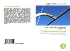 2010 International Bowl的封面