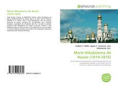 Buchcover von Marie Nikolaïevna de Russie (1819-1876)