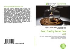 Bookcover of Food Quality Protection Act