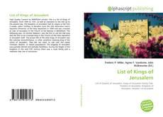 Buchcover von List of Kings of Jerusalem