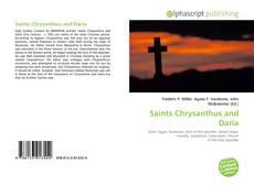 Saints Chrysanthus and Daria kitap kapağı