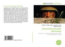 Capa do livro de Government Bunker (Germany)