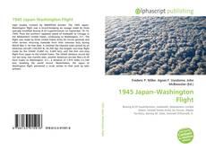 Capa do livro de 1945 Japan–Washington Flight